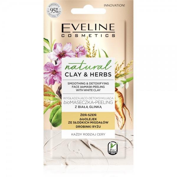 Eveline Cosmetics - Gesichtsmaske - Natural Clay & Herbs Smoothing & Detoxifying Face Bio Mask-Peeli