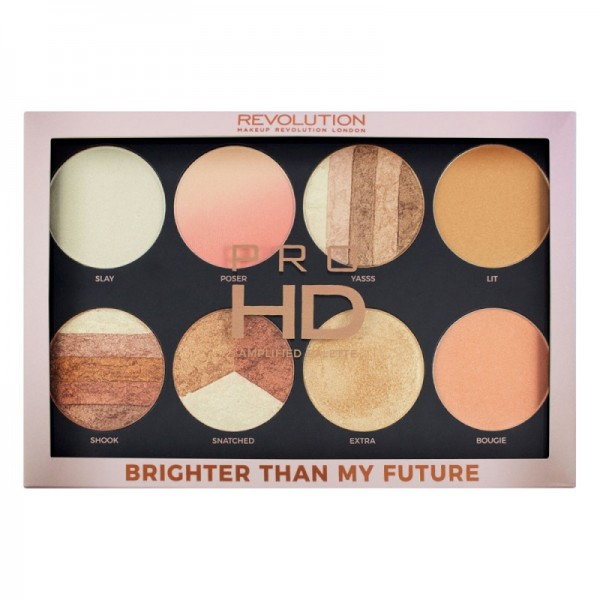 Makeup Revolution - Highlighter Palette - Pro HD Palette Brighter Than My Future