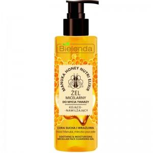 Bielenda - Gesichtsreinigungsgel - Manuka Honey Nutri Elixir Micellar Cleansing Gel trockene und sen