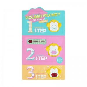 Holika Holika - Lippenmaske - Golden Monkey Glamour Lip 3-Step Kit