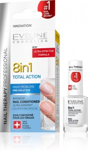 Eveline Cosmetics - Without Formaldehyde Nail Therapy Professional 8In1 Total Action 12Ml