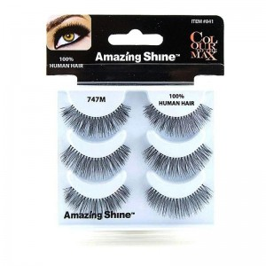 Amazing Shine - Falsche Wimpern - Colour to the Max - Nr. 747M - Echthaar - 3Pack