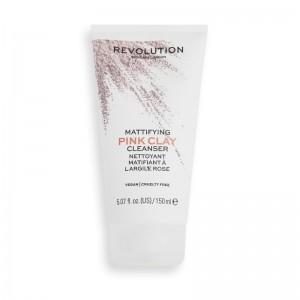 Revolution - Reinigungscreme - Skincare Mattifying Pink Clay Mud-to-Foam Cleanser