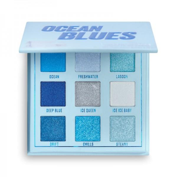 Makeup Obsession - Lidschattenpalette - Ocean Blues Shadow Palette - Mini