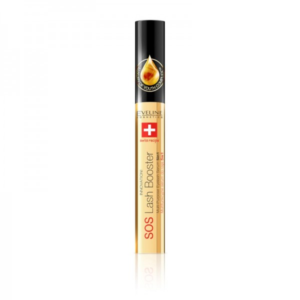 Eveline Cosmetics - Wimpernserum - Sos Lash Booster Eyelash Serum 5In1 With Argan Oil