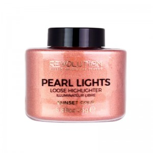 Makeup Revolution - Highlighter - Pearl Lights Loose Highlighter - Sunset Gold