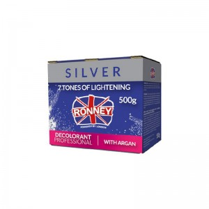 Ronney Professional - Silver Dust Free Bleaching Powder with Argan - 7 Tones of Lightening