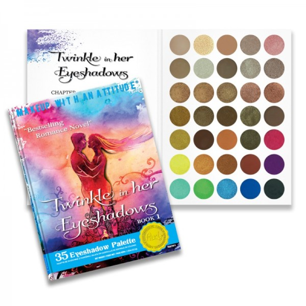 RUDE Cosmetics - Lidschattenpalette - 35 Eyeshadow Palette - Twinkle In Her Eyeshadows - Book 1