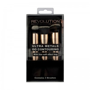 Makeup Revolution - Pinselset - Ultra Metals Go Contouring