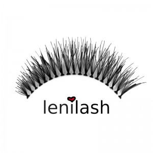 lenilash - False Eyelashes Black No. 120 - Human Hair