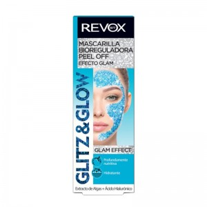 REVOX - Gesichtsmaske - Glitz & Glow Peel Off Mask - Blue
