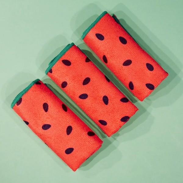Revolution - Gesichtstücher - Skincare x Jake Jamie Watermelon Microfibre Cleansing Cloths
