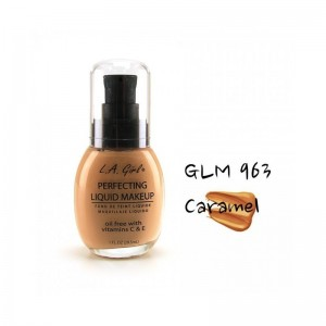 LA Girl - Foundation - Perfecting Liquid Makeup Oil Free - Caramel
