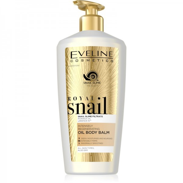 Eveline Cosmetics - Bodylotion - Royal Snail Intensely Regenerating Oil Body Balm - 350ml