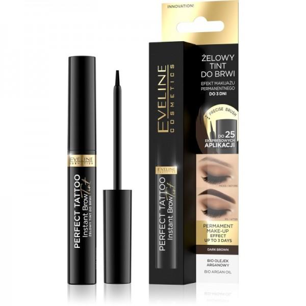 Eveline Cosmetics - Augenbrauenfarbe - Perfect Tattoo Instant Brow Tint Dark Brown