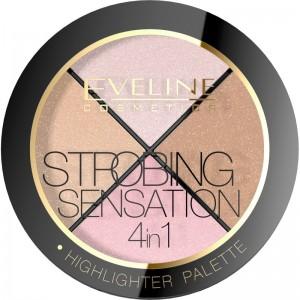 Eveline Cosmetics - Highlighterpalette - Strobing Sensation 4In1