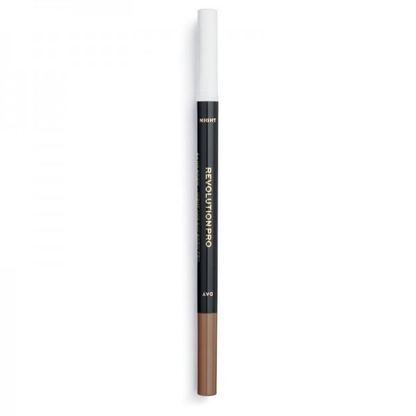 Revolution Pro - Augenbrauenstift - 24H Day & Night Brow Pen - Ash Brown