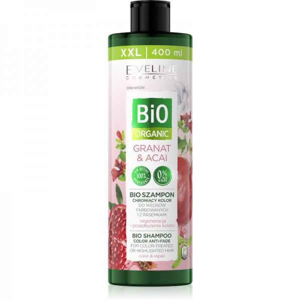 Eveline Cosmetics - Haarshampoo - Bio Organic Bio Shampoo Color Anti-Fade Granat & Acai - 400ml