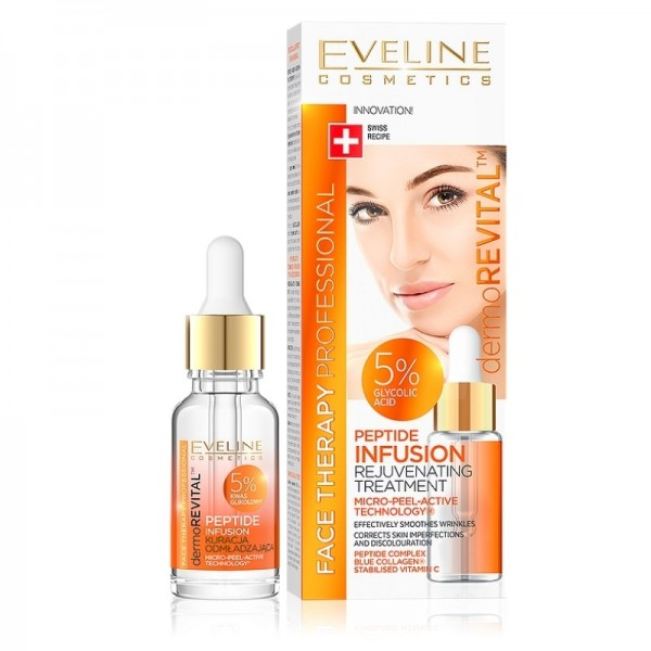 Eveline Cosmetics - Serum - Face Therapy Professional Peptide Infusion Rejuvenating Treatment 5% Gly