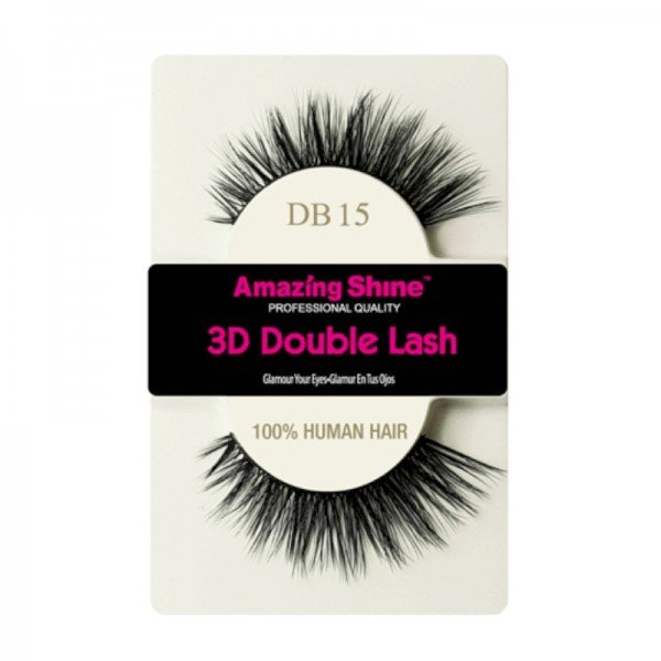 Amazing Shine - Falsche Wimpern - 3D Double Lash - DB15 - Echthaar