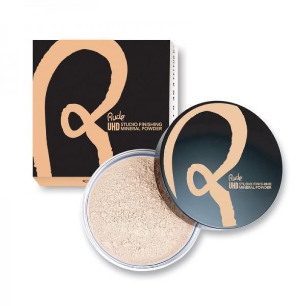 RUDE Cosmetics - Mineral Puder - Ultra High Definition Studio Finishing Mineral Powder - Banana