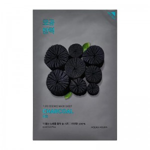 Holika Holika - Gesichtsmaske - Pure Essence Mask Sheet Charcoal - Kohle