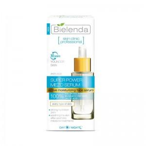 Bielenda - Siero - Skin Clinic Professional Anti Age Active Moisturizing Face Serum Day/Night