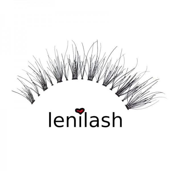 lenilash - False Eyelashes - Black - Human Hair - Nr.145
