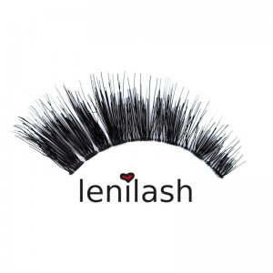 lenilash - False Eyelashes - Black -  Human Hair - Nr. 130