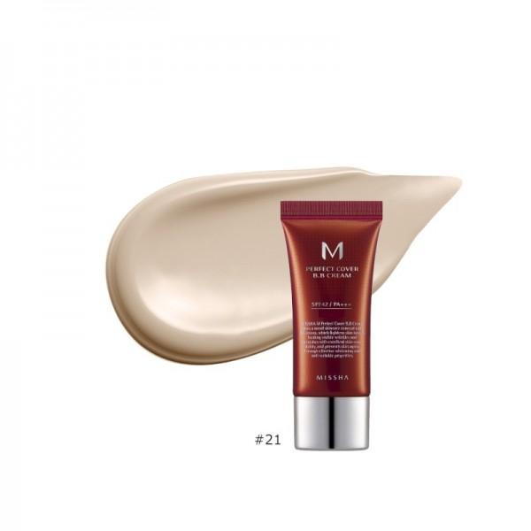 MISSHA - BB Cream - M Perfect Cover BB Cream - SPF42 - No.21/Light Beige - 20ml