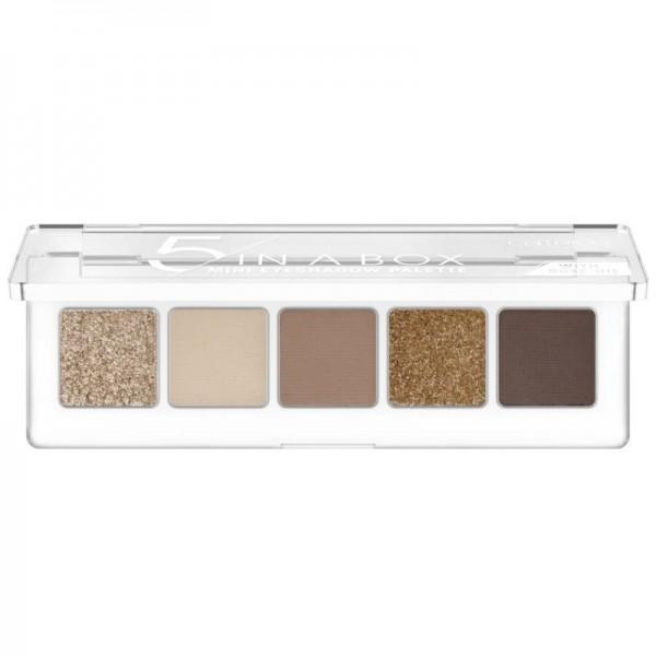 Catrice - Lidschattenpalette - 5 In A Box Mini Eyeshadow Palette - 010 Golden Nude Look