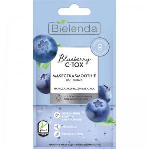 Bielenda - Blueberry C-Tox Moisturizing Smoothie Mask - Illuminating 8 G