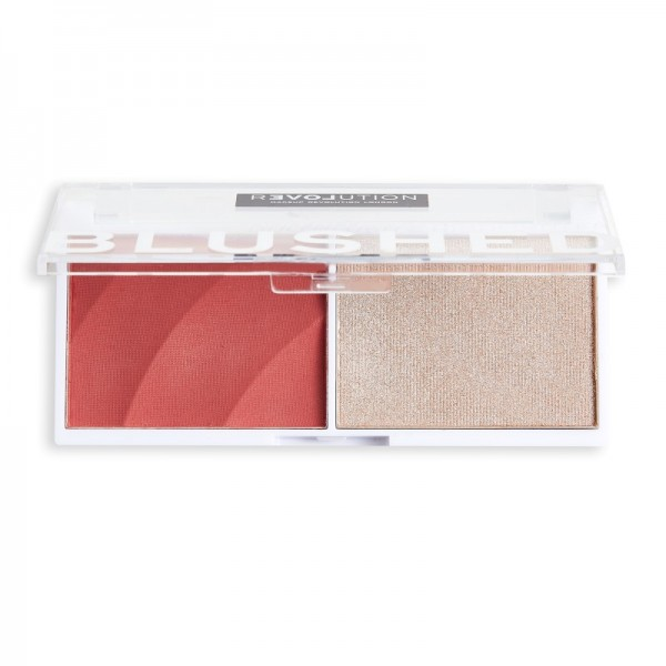 Revolution Relove - Rouge & Highlighter - Blushed Duo Blush & Highlighter - Cute