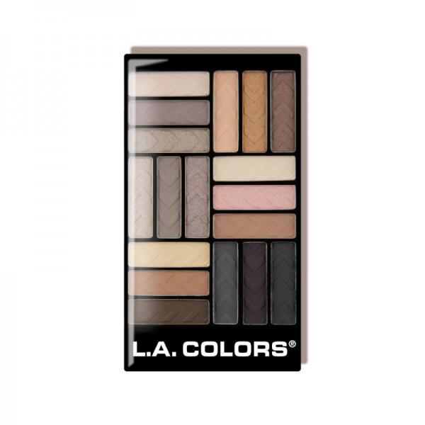 LA Colors - Lidschattenpalette - 18 Color Eyeshadow Palette - Downtown Brown