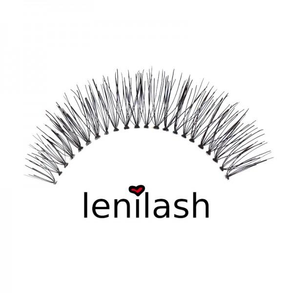 lenilash - False Eyelashes - Black - Human Hair - Nr.151