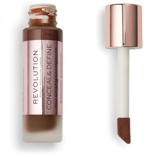 Makeup Revolution - Conceal & Define Foundation F18