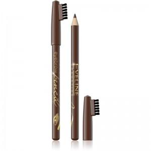 Eveline Cosmetics - Eyebrow Pencil With Brush - Brown