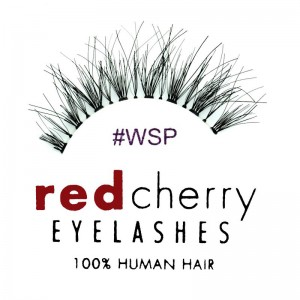 Red Cherry - False Eyelashes No. WSP Wispy - Human Hair