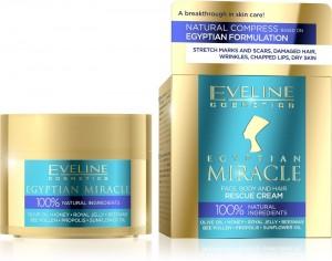 Eveline Cosmetics - Hautpflegecreme - Egyptian Miracle Face, Body And Hair Rescue Cream 40Ml