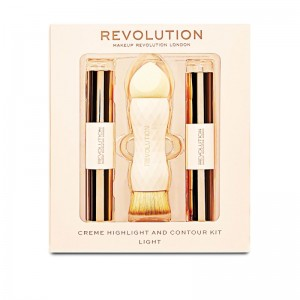 Makeup Revolution - Makeup Set - Creme Highlight and Contour Kit - Light