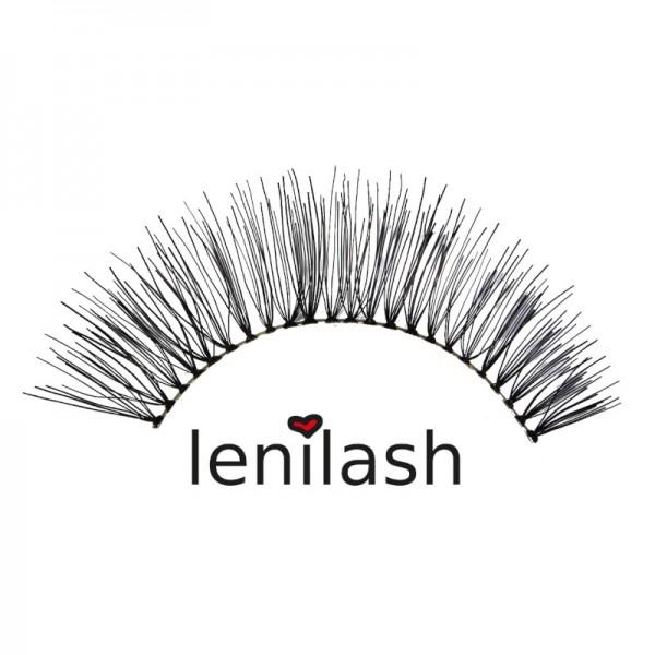 lenilash - False Eyelashes - Black - Human Hair - Nr.138