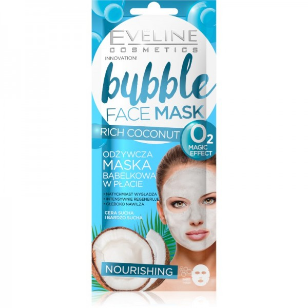 Eveline Cosmetics - Gesichtsmaske - Bubble Face Mask Nourishing Rich Coconut