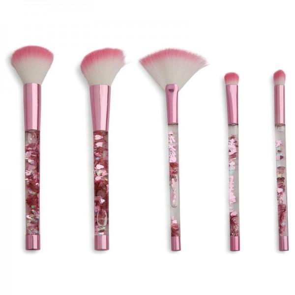 I Heart Revolution - One True Love Pink Fantasy Glitter Brush Set