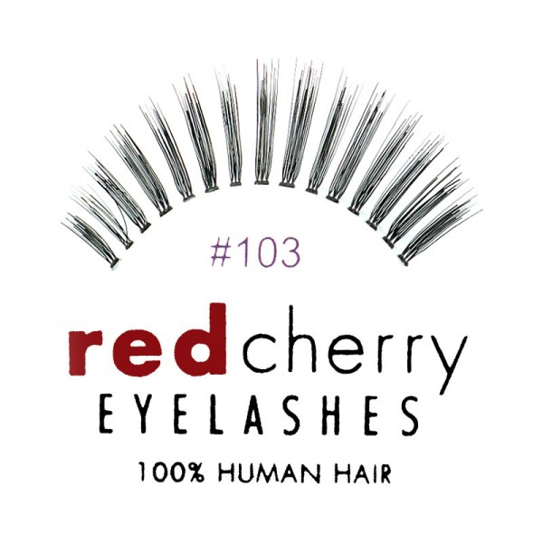 Red Cherry - False Eyelashes No. 103 Lelaina - Human Hair