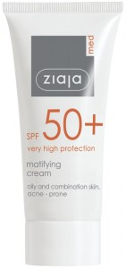 Ziaja Med - Mattierende Tagespflege - Matifying Cream SPF 50+
