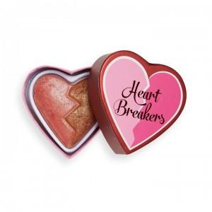I Heart Revolution - Rouge - Heartbreakers Shimmer Blush - Powerful