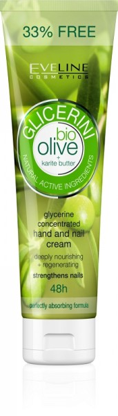Eveline Cosmetics - Glicerini Hand And Nail Cream With Olive 100Ml