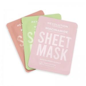 Revolution - Gesichtsmasken-Set - Skincare Oily Skin Sheet Masks Set 3Stk