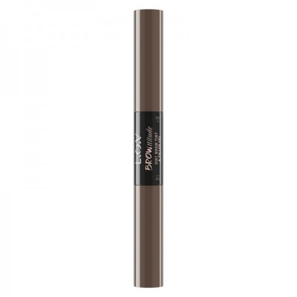L.O.V - Augenbrauengel - Browttitude 2in1 Brow Tint & fFill 110 Bold Brunette