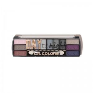 LA Colors - Lidschattenpalette - Day to Night (12 Color Eyeshadow) - Evening